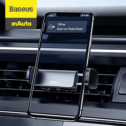 Foto Produk BASEUS UNIVERSAL CAR HOLDER STEEL CANNON AIR OUTLET CAR MOUNT - Hitam dari Baseus Auto Life
