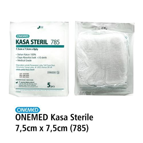 Foto Produk Kasa Steril 785 7.5x7.5cm 8 Ply Isi 5's OneMed dari Onemed Rawat Luka