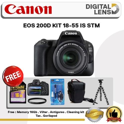 Foto Produk KAMERA CANON EOS 200D KIT 18-55 IS STM dari Toko digital lens