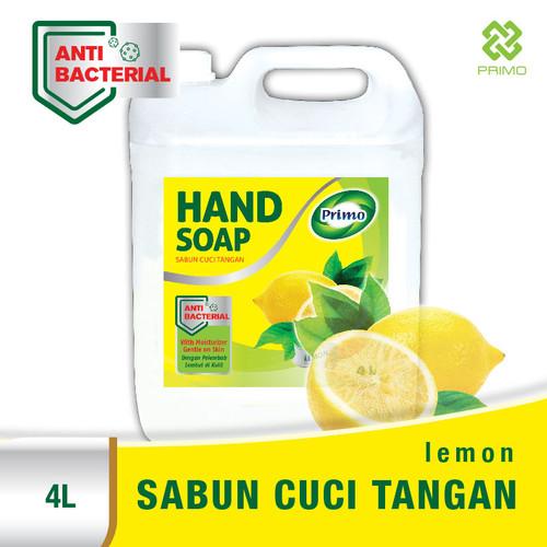 Foto Produk Sabun Cuci Tangan PRIMO Anti Bacterial HAND SOAP 4L - Lemon dari Primo Official Store