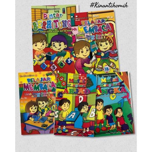 Foto Produk Paket 5 Buku PAUD dan TK (Abjad + Angka + Membaca + Calistung + Huruf) dari Kinantikomik