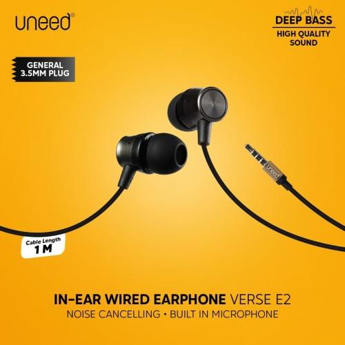 Foto Produk UNEED In-Ear Earphone / Headphone / Headset with Microphone - UEP121 dari Uneed Indonesia