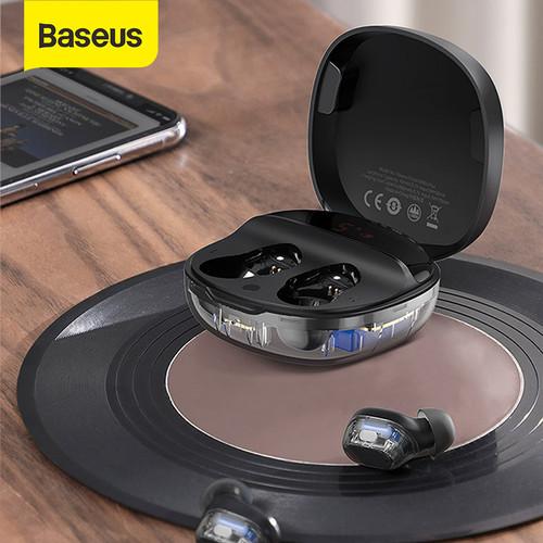 Foto Produk BASEUS TRUE WIRELESS BLUETOOTH EARPHONE MINI EARBUDS TWS WM01 PLUS - BLACK dari Baseus Official Store