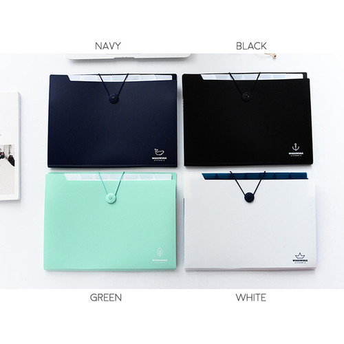 Foto Produk Woodwork 8 Pockets Expanding File Folder / Map Folder - Navy dari Pinkabulous