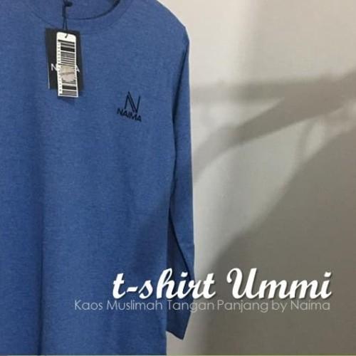 Foto Produk Naima - Kaos Muslimah / Kaos Tangan Panjang / T-Shirt Muslimah - Merah, L dari Buba Shop Online