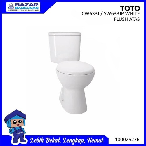 Foto Produk CLOSET / KLOSET / TOILET DUDUK TOTO CW633J SW633JP CW 633 J SW 633 JP dari Bazar Bangunan