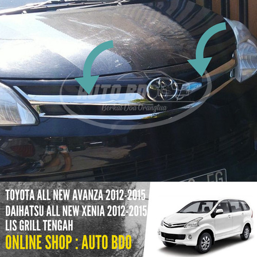 Foto Produk List Lis Grill Tengah All New Avanza & All New Xenia 2012 -2015 Chrome dari Auto BDO Berkat Doa Ortu