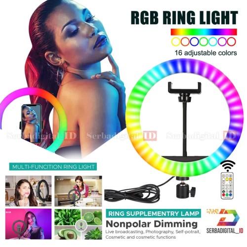 Foto Produk Ring Light RGB COSTA CRL-26 cm Remote control TikTok Youtuber dari serbadigital-id