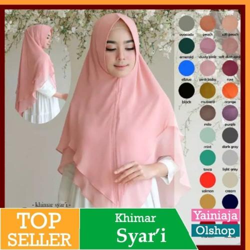 Foto Produk Jilbab Instan Syari Hijab Kerudung Khimar Ceruti Feliza Pet Termurah dari Yainiaja official shop