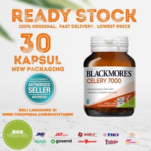 Foto Produk Blackmores Celery 7000mg BPOM Kalbe - 30 Kapsul (Nyeri Sendi Rematik) dari Bos Vitamin