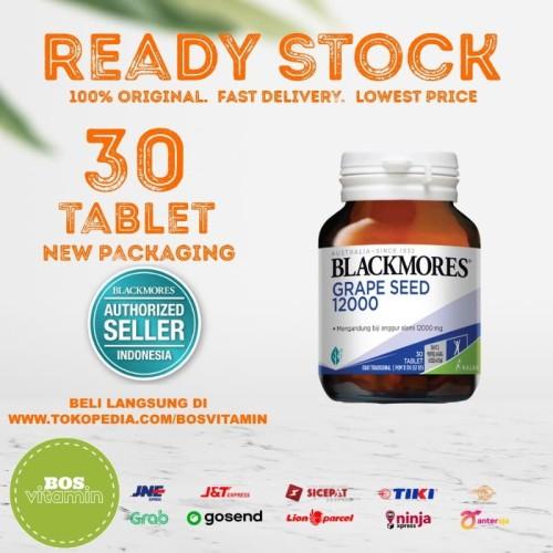 Foto Produk Blackmores Grapeseed Grape Seed 12000 BPOM Kalbe - 30 Tablet dari Bos Vitamin