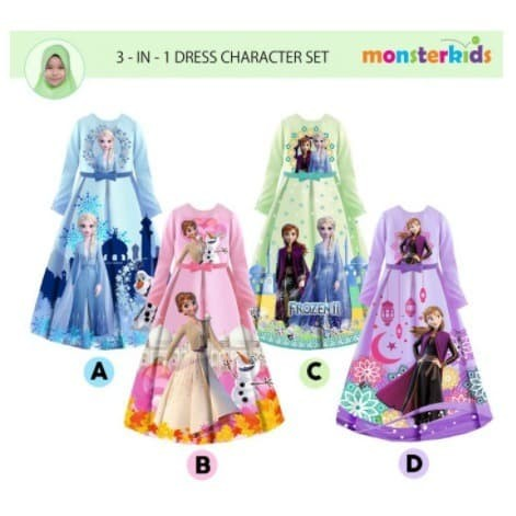 Foto Produk Baju Gamis Anak Perempuan LOL Frozen Pony / Dress Muslim Scuba Import - Gambar, 5-9T dari COLOR RAINBOW
