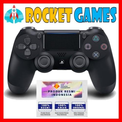 Foto Produk STIK PS4 SLIM NEW MODELS DUAL SHOCK 4 (BLACK) dari Rocket games