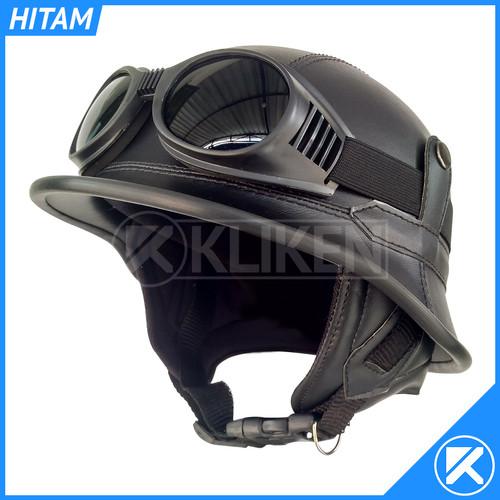 Foto Produk Helm Retro NAZI Model Unik Dengan Kacamata - Hitam dari Kliken
