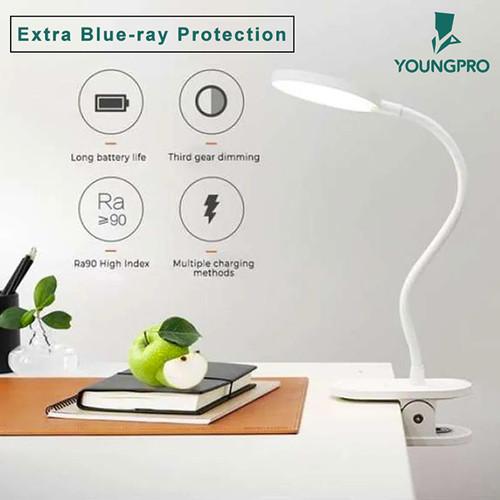 Foto Produk LED Usb Rechargeable Lampu Meja Belajar - Lampu Meja Belajar Jepit dari YOUNGPRO INDONESIA