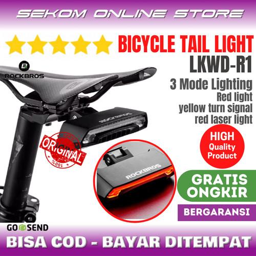 Foto Produk ROCKBROS LKWD R1 Bicycle Tail Light Lampu Sepeda Remote control dari SEKOM ONLINE STORE