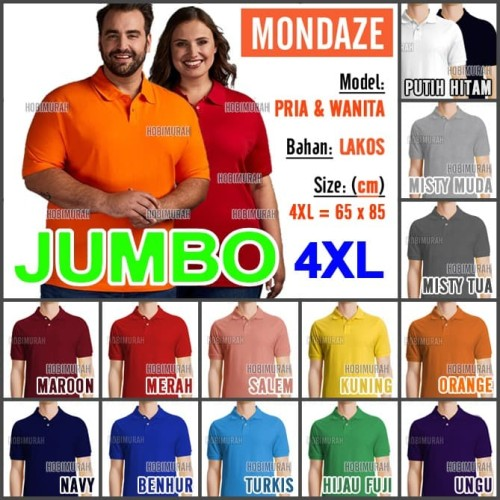 Foto Produk KAOS POLO PRIA DEWASA | KAOS POLOS | MONDAZE | PENDEK - JUMBO (4XL) - 4XL Jumbo, UNGU promo dari hobimurah