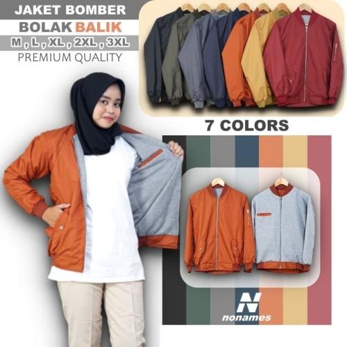Foto Produk Jaket Bomber Wanita Polos Jaket Wanita Berkualitas Murah - Hitam, M dari Mr ORI