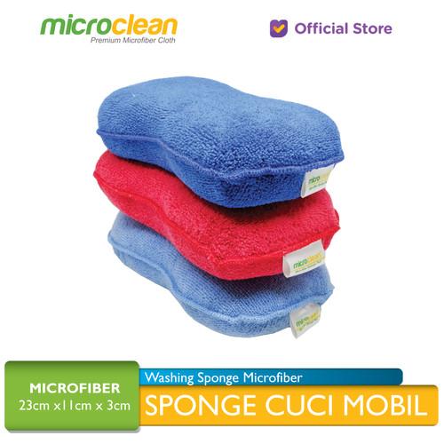Foto Produk MICROCLEAN Sponge Microfiber otomotif / Busa Cuci Mobil Anti Gores - Random Color dari Microfiber Indonesia