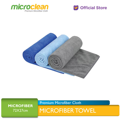 Foto Produk MICROCLEAN Microfiber Towel All purpose Towel Handuk Kain Microfiber - Soft Blue 27x72 dari Microfiber Indonesia