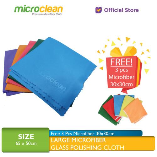 Foto Produk MICROCLEAN Large Microfiber Glass Polishing Cloth Size 65 x 50 cm - Assorted Color dari Microfiber Indonesia
