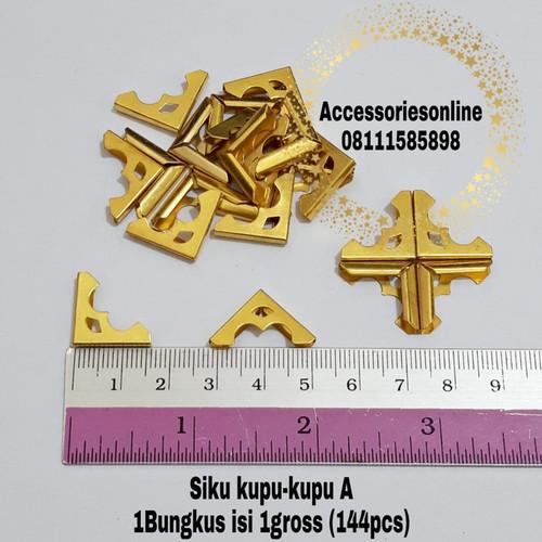 Foto Produk Siku Buku Yasin(sudut buku)/ Siku Agenda / Siku kupu-kupu A 144pc GOLD dari accessoriesonline
