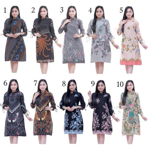 Foto Produk Baju Atasan Wanita Tunik Mahkota / Blus Batik Kantor dari Batik Ifa