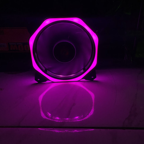 Foto Produk XBT Eclipse Segi XB-113 Fan Case 12cm LED RING Non Auto Fan Casing - Ungu dari scriptechnology
