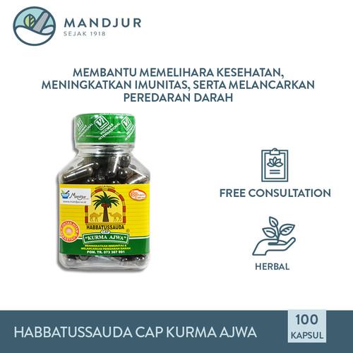 Foto Produk Habbatussauda Cap Kurma Ajwa - Suplemen Kesehatan Tubuh dari mandjur