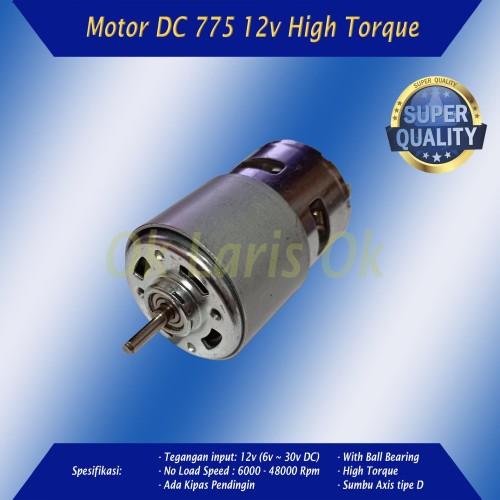Foto Produk Motor DC 775 12v High Torsi Speed Dinamo Mesin Power Tools DIY 24v 30v dari ok laris ok