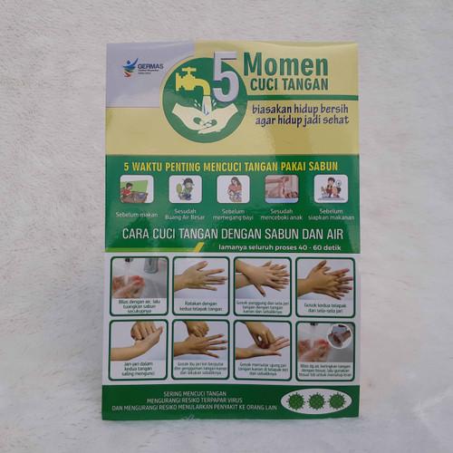 Foto Produk Stiker 5 Momen Cuci Tangan versi Umum dari Syafana