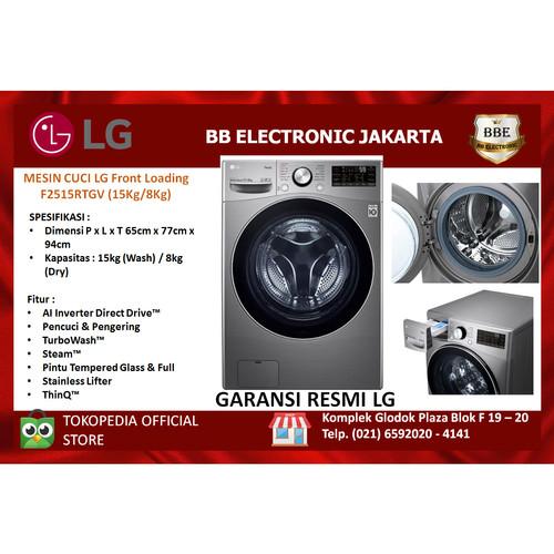Foto Produk LG Mesin Cuci Front Loading F2515RTGV/F-2515RTGV 15Kg/8Kg dari BB ELECTRONIC