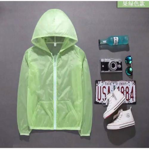 Foto Produk Jaket Anti UV Korean Style pelindung dari sinar matahari - Hijau Stabilo dari -Bonamy-