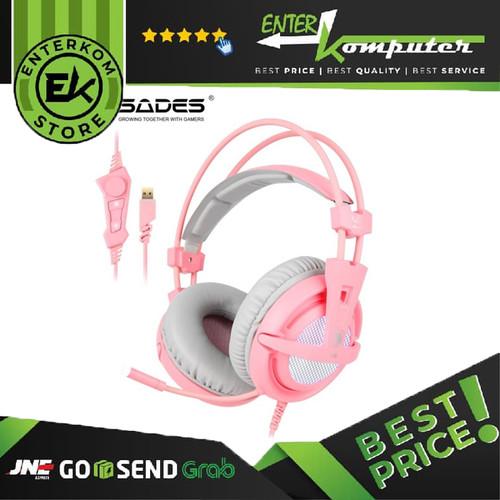 Foto Produk Sades A6 USB 7.1 Surround - Headset Gaming dari Enter Komputer Official