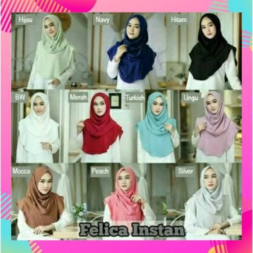 Foto Produk Felica/Hijab Instan Praktis BUBLE POP BERKUALITAS Modern Terbaru dari JilbabInstan