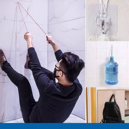 Foto Produk Gantungan Baju Gantungan Serbaguna Hook Kail Hanger Dinding Super Kuat dari Tchome Official Store