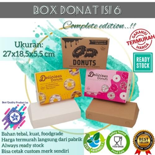 Foto Produk Box Dus Donat Ukuran setengah lusin - Kuning dari new Jusuf Store