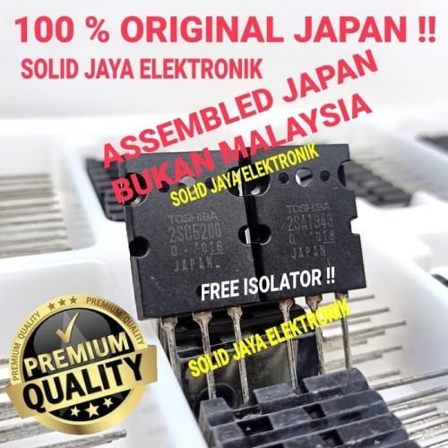 Foto Produk TRANSISTOR TOSHIBA 2SC5200 - 2SA1943 ORIGINAL TR FINAL TOSHIBA ASLI dari Solid Jaya Elektronik