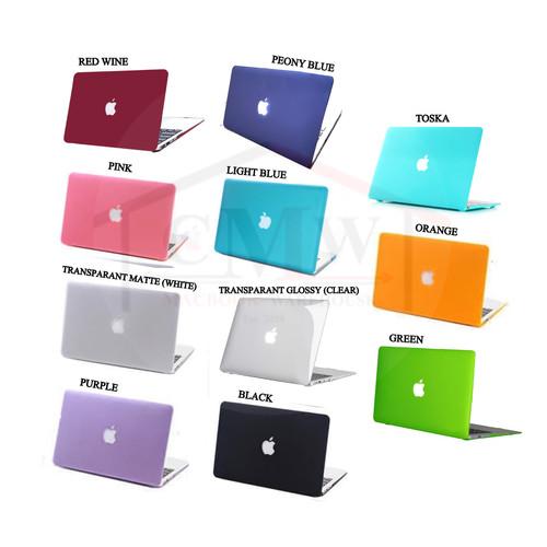 Foto Produk Case Macbook AIR 11 Inch Matte Doff Cut Logo - Hitam dari Macbook Warehouse