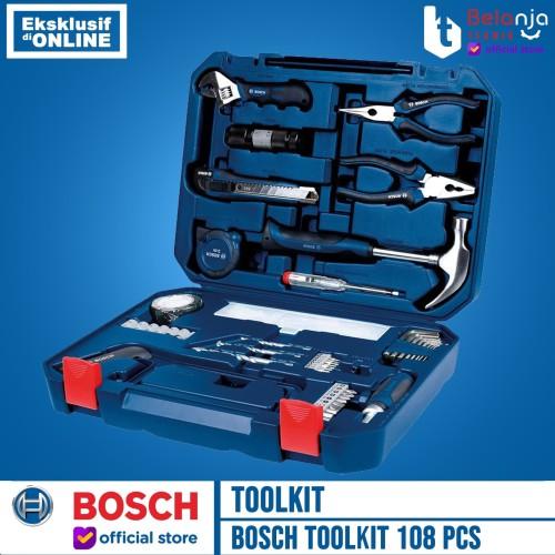Foto Produk BOSCH Toolkit 108 Pcs Mixed Set 108pcs (108 Multifunction Tool Kit) dari Belanja Teknik