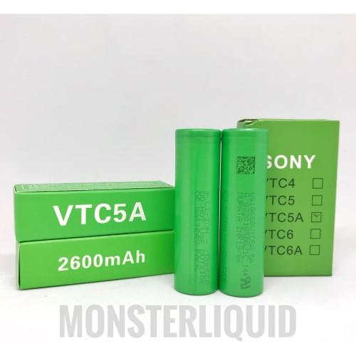 Foto Produk BATTERY SONY VTC 5A 18650 2600MAH 35A AUTHENTIC BATERAI VTC5A dari MONSTERLIQUID
