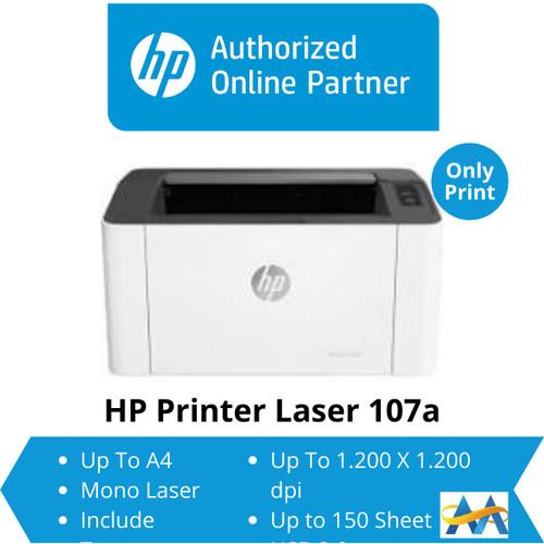 Foto Produk HP Laserjet 107a 107 a Monochrome Laser Printer (Toner HP 107A) dari myprinter.id
