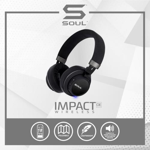 Foto Produk SOUL IMPACT OE Wireless Bluetooth High Efficiency Headphone - BLACK dari Soul official