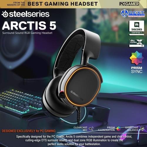Foto Produk SteelSeries Arctis 5 with 7.1 DTS Headphone:X Black RGB dari DextMall