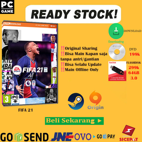 Foto Produk FIFA 21 PC ORIGINAL ORIGIN + Last Update - ORIGIN 39GB dari Steam Key