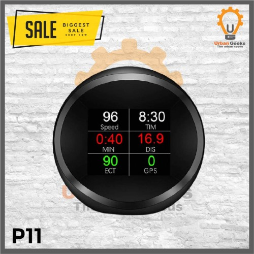 Foto Produk Head Up Display HUD Gauge OBD2 speedometer digital GPS system P11 dari Urban Geeks
