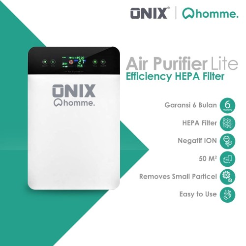 Foto Produk Onix Air Purifier Lite Touch Display Pembersih Udara HEPA Filter dari Onix Gadget Official