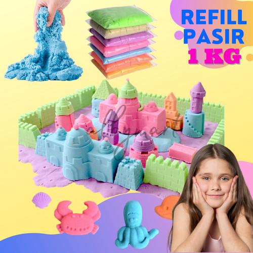 Foto Produk Refill Pasir ajaib mainan pasir castle refill 1 KG - PINK dari cabokimurah