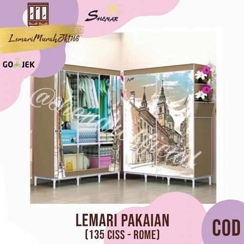 Foto Produk Lemari jumbo 135, lemari serbaguna, lemari portable - ROME,SHENAR - Cokelat dari Lemarimurahjkt168