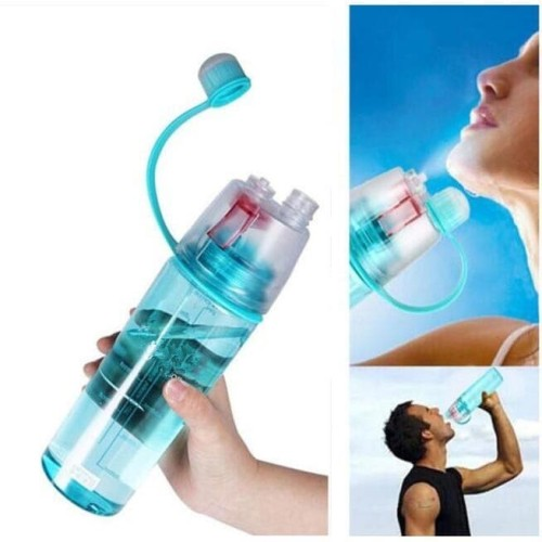 Foto Produk Botol Minum New B Sport Spray Water Bottle 600 ml - Hijau dari dfanccie house